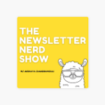 screenshot of the newsletter nerd show marketing podcast logo