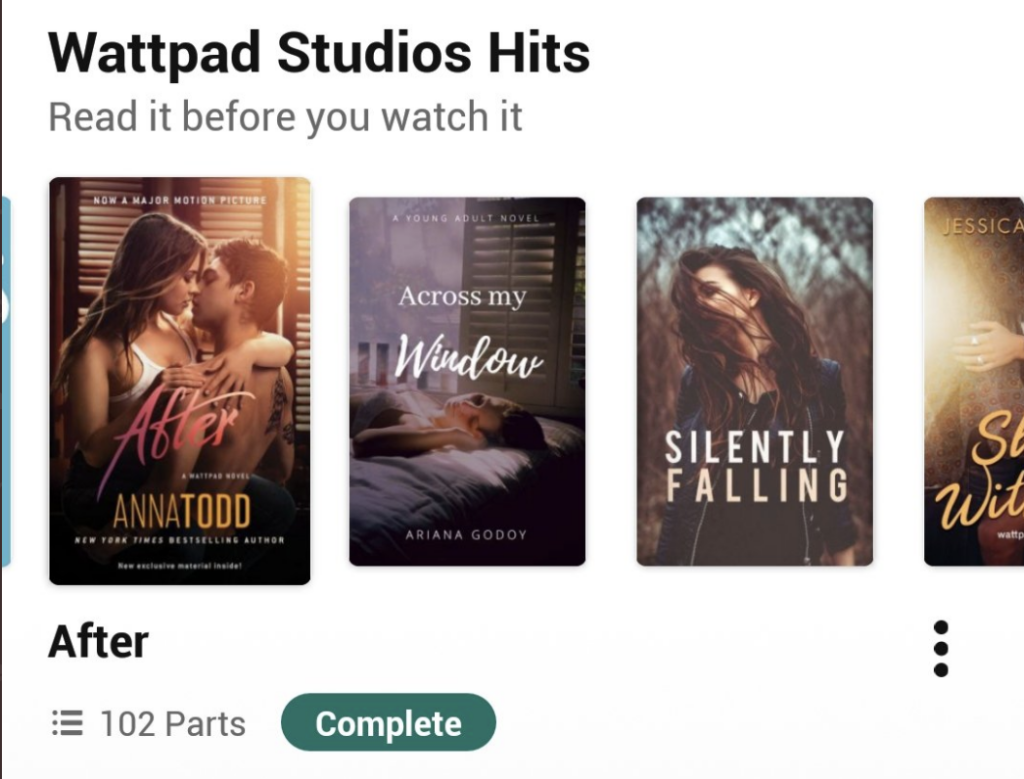screenshot from wattpad app of the content creator monetization program