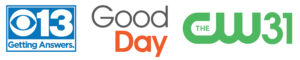 Three logo: CBS13, Good Day Sacramento, CW31