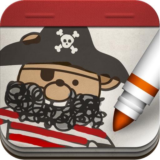 Pirate Scribblebeard's treasure