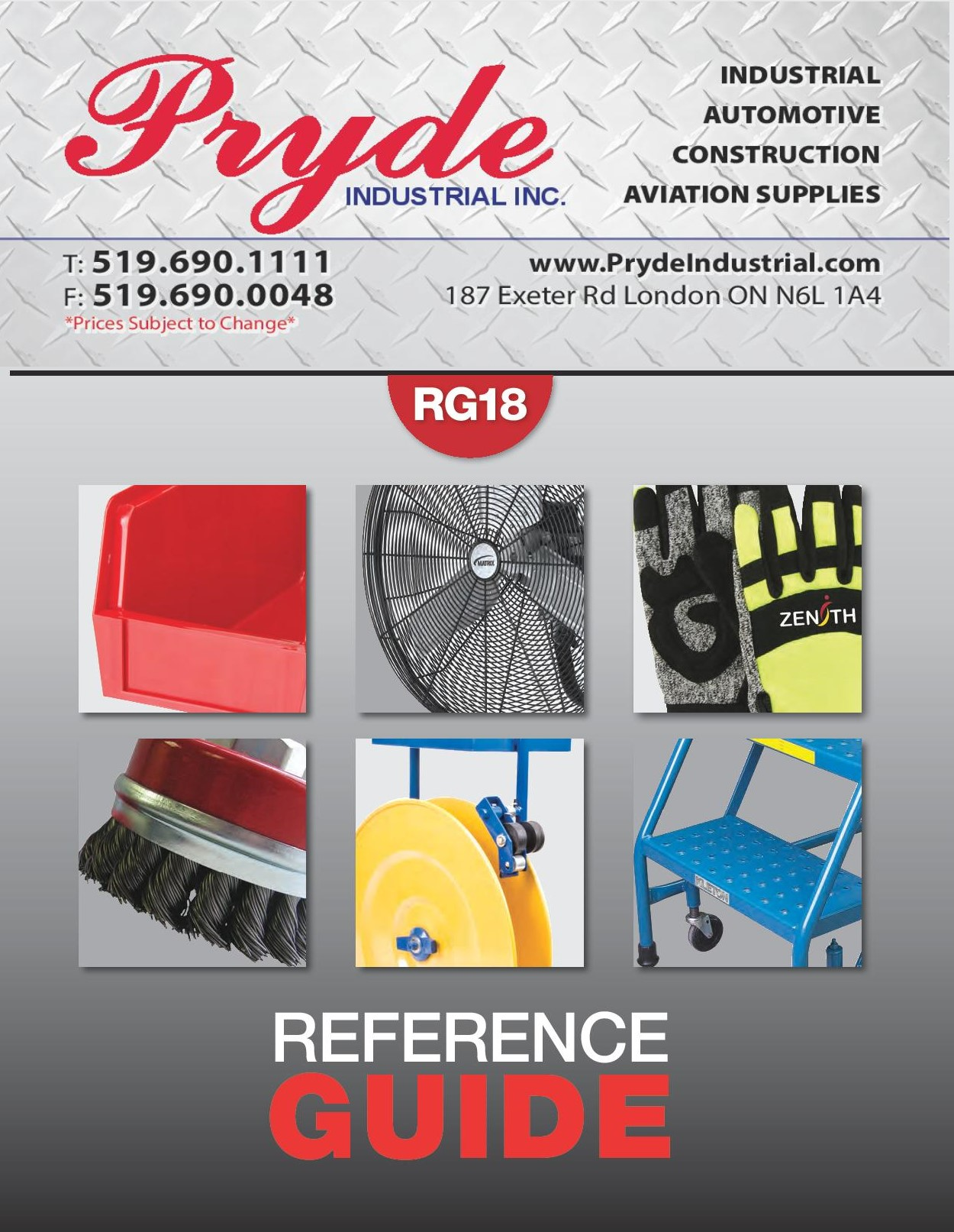 Pryde Catalogue Catalogue Cover