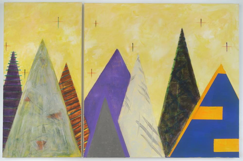 Dawn, diptych 24x36, acrylic on canvas, $625