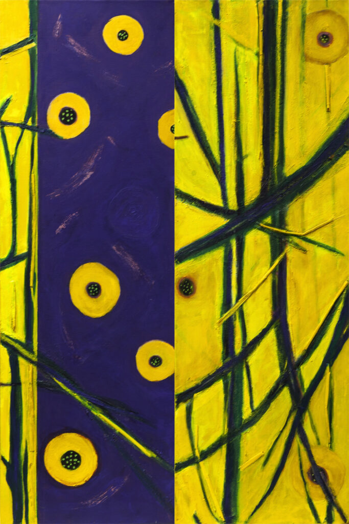Hyacinth, Diptych, 30x20, acrylic on canvas, $325