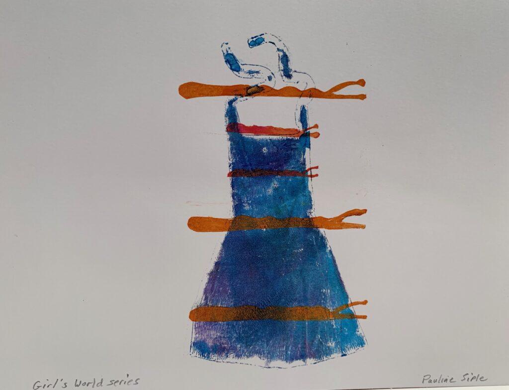 Dress with Bobbi Pins, 11 x 8 1/2, Gel print $45