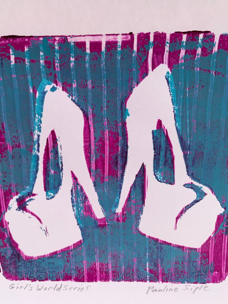 High Heel Shoes, 11 x 8 1/2, Gel print, $45