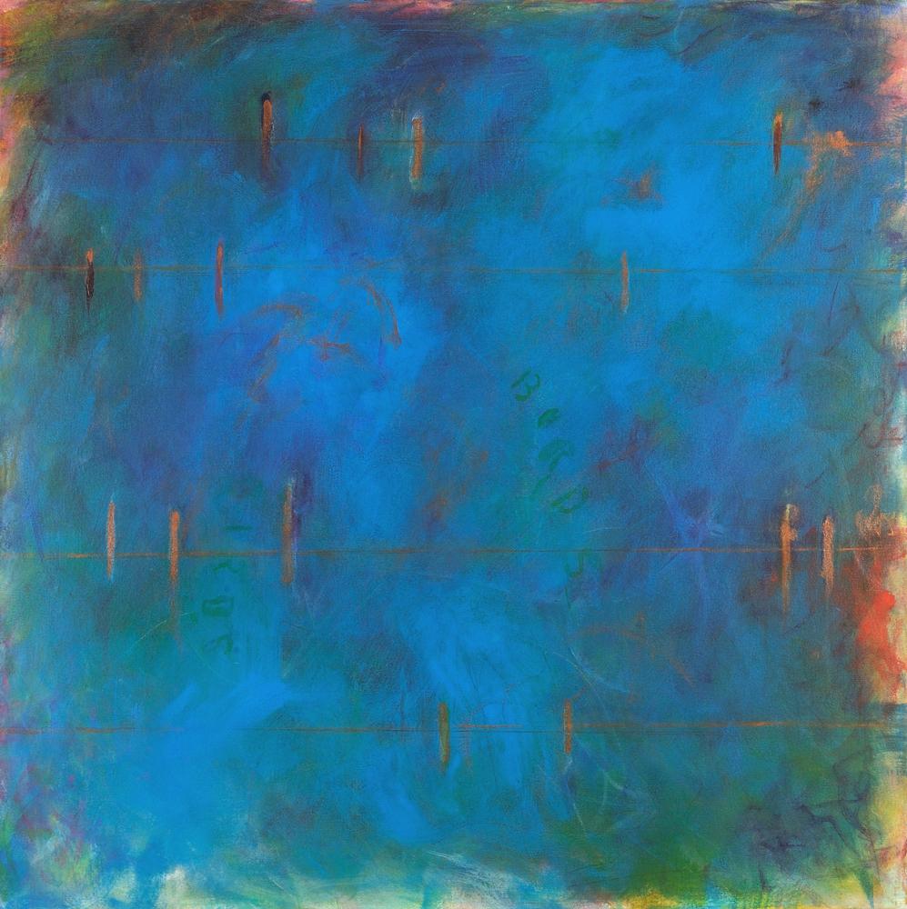 Tropical Birds, 20x20 $325, acrylic on canvas, 36x36 $950