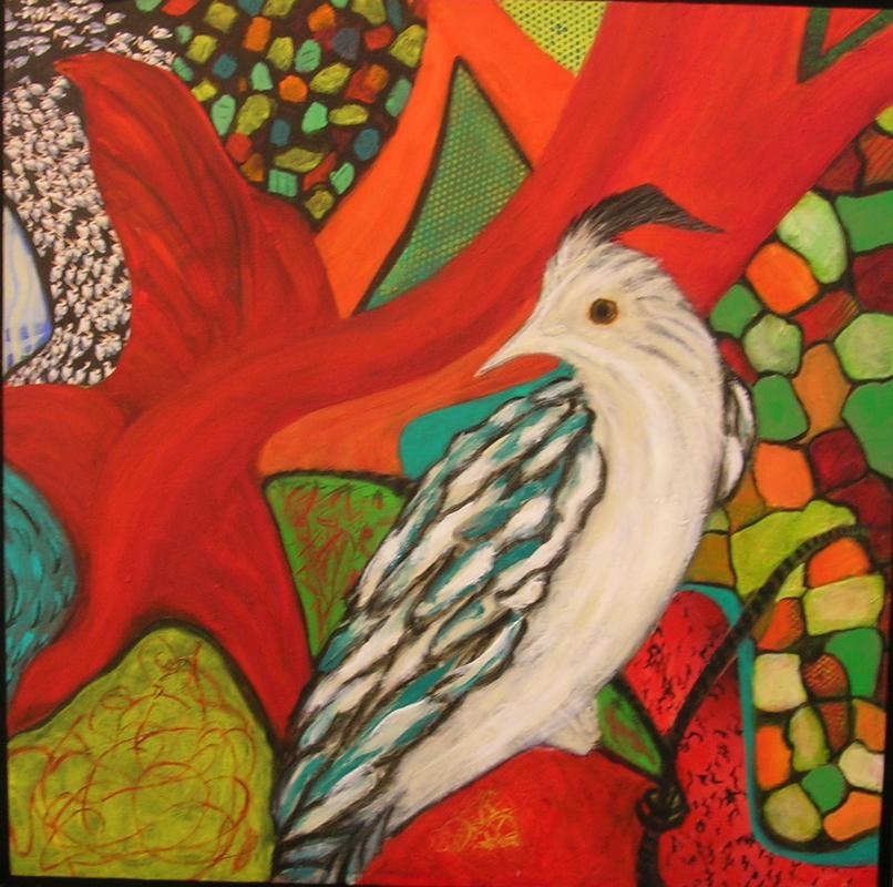 On Guard, 24 x 24, acrylic on canvas $295