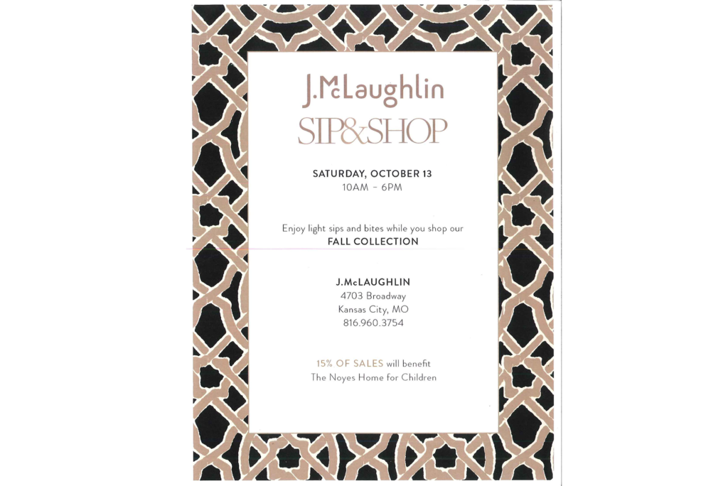 J.McLaughlin Sip & Shop to benefit Noyes Home for Children