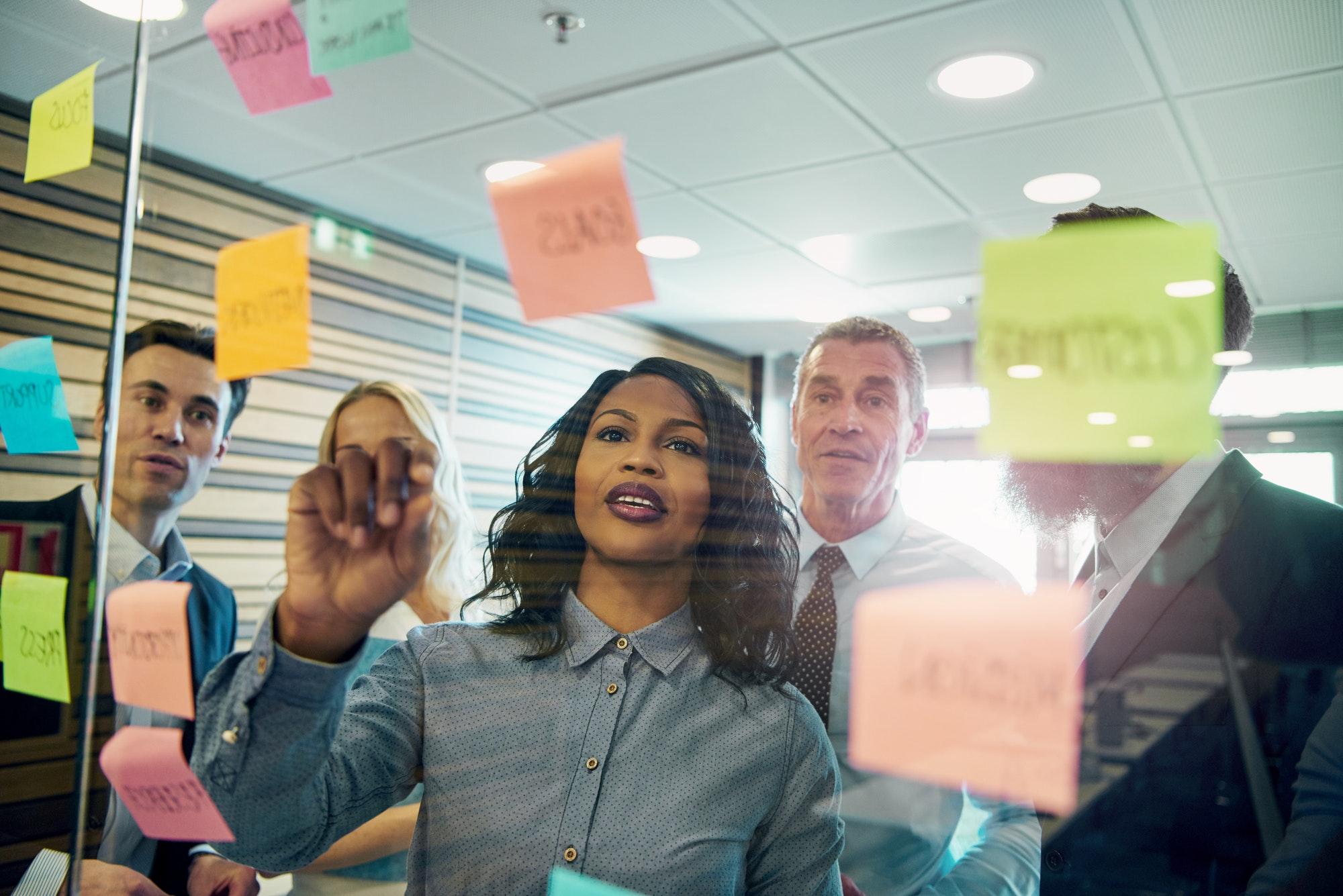 Group of businesspeople brainstorming