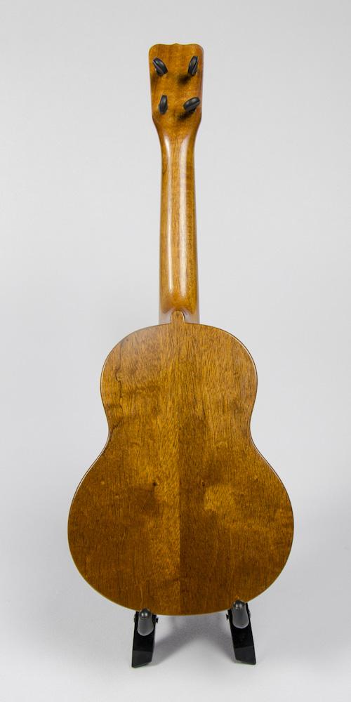David Dart Mahogany Concert Ukulele, Style 1 (2016): mahogany top, back, sides & neck; ebony fingerboard & bridge; abalone Dart logo (hand-cut), soundhole inlay (hand-cut), & fingerboard dots
