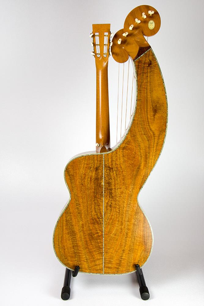 David Dart Koa & Spruce Harp Guitar