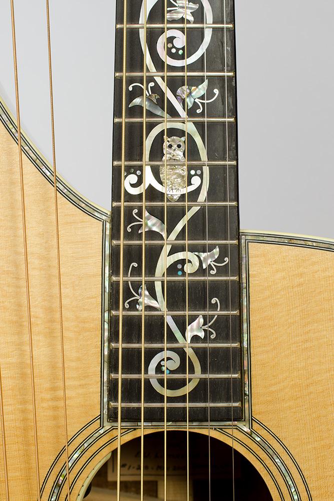 David Dart Harp Guitar Tree of Life fingerboard inlay (abalone & mother-of-pearl)