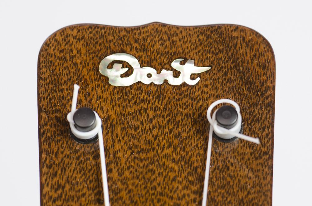 David Dart Jarrah Concert Ukulele, Style 1 (2014): jarrah top, back, sides & neck; rosewood fingerboard & bridge; abalone Dart logo (hand-cut), soundhole inlay (hand-cut), & fingerboard dots