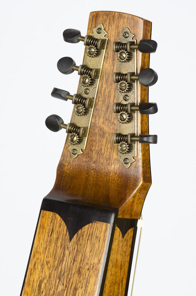David Dart 8-String Hawaiian Steel Guitar Guitar peghead (mahogany & ebony)