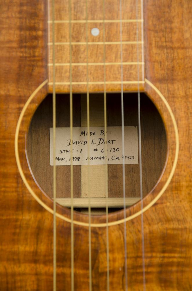 David Dart Hawaiian acoustic steel guitar, Style 1, May 1998
