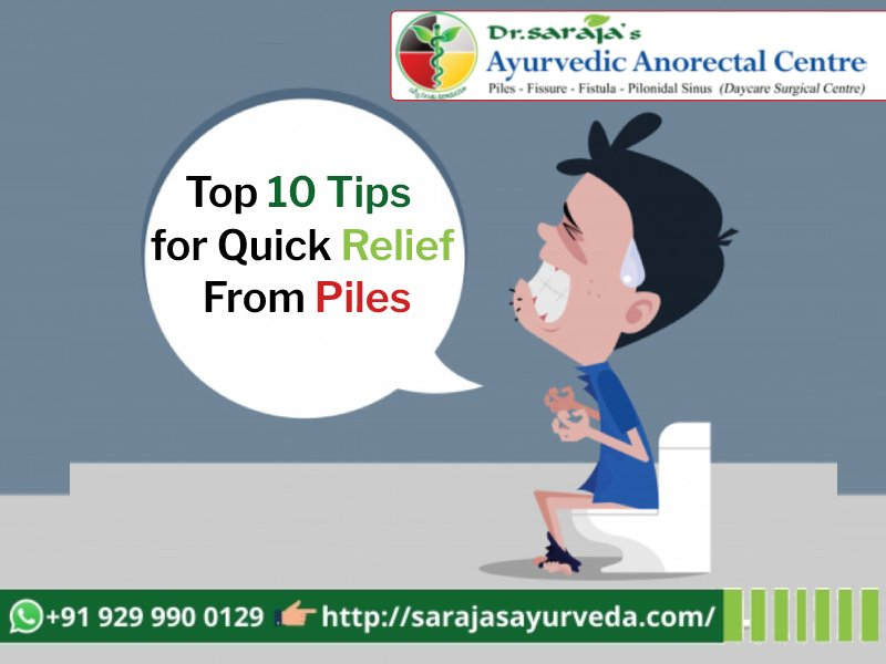 Top 10 Tips for Quick Relief From Piles