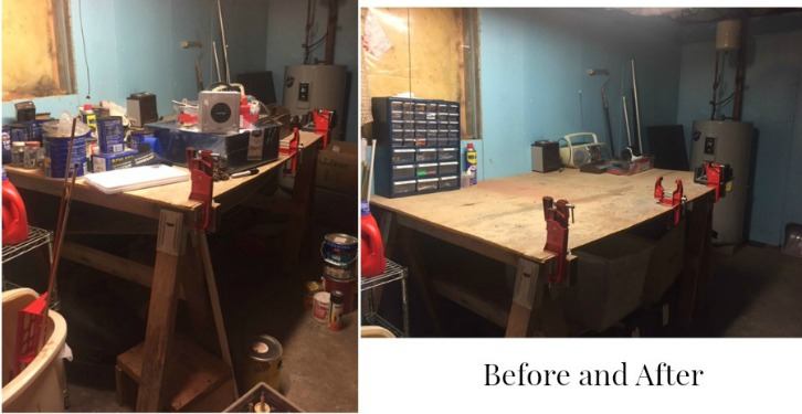 Before and After Storage Room