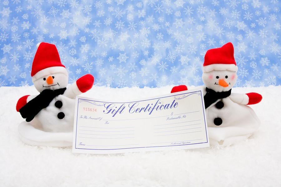 Organizing Gift Certificate Sale