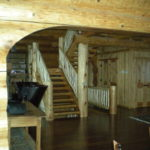 Log Stairs from the log arch