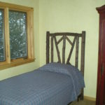 log home Loft bedroom