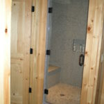 steam shower slate and pebble