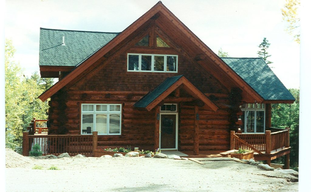 Custom built hand scribed cedar log home