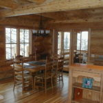Dining area, hickory floors