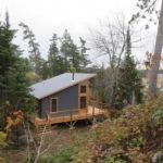Island cabin, fall colors