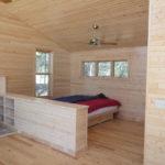 One room lake cabin