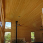 Pine walls and ceiling