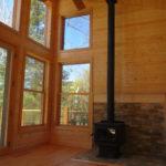 Tall windows lake side