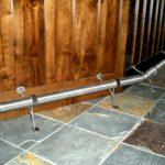 bar footrest slate floor