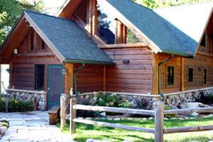 Cedar and stone lake cabin, entry