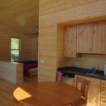 one room pine paneling