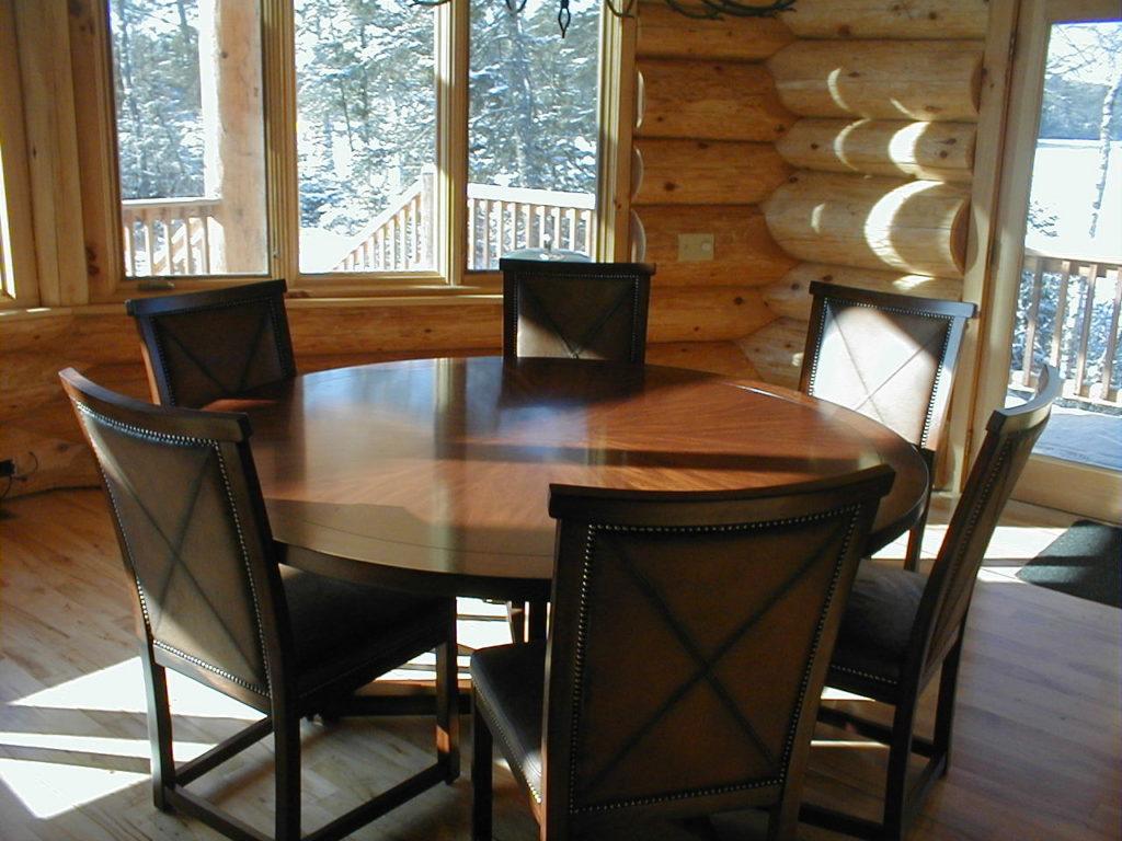 Dining room area, cedar log home
