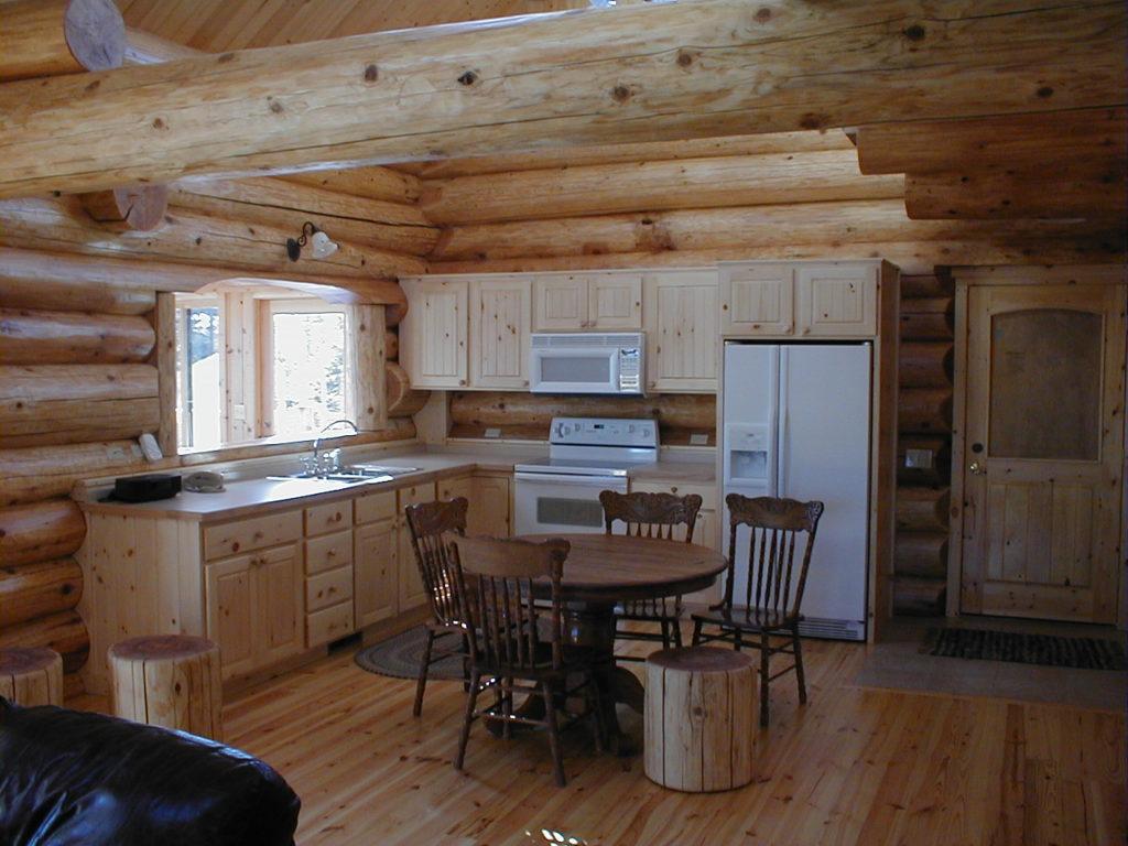 Pine cabinets, pine floors