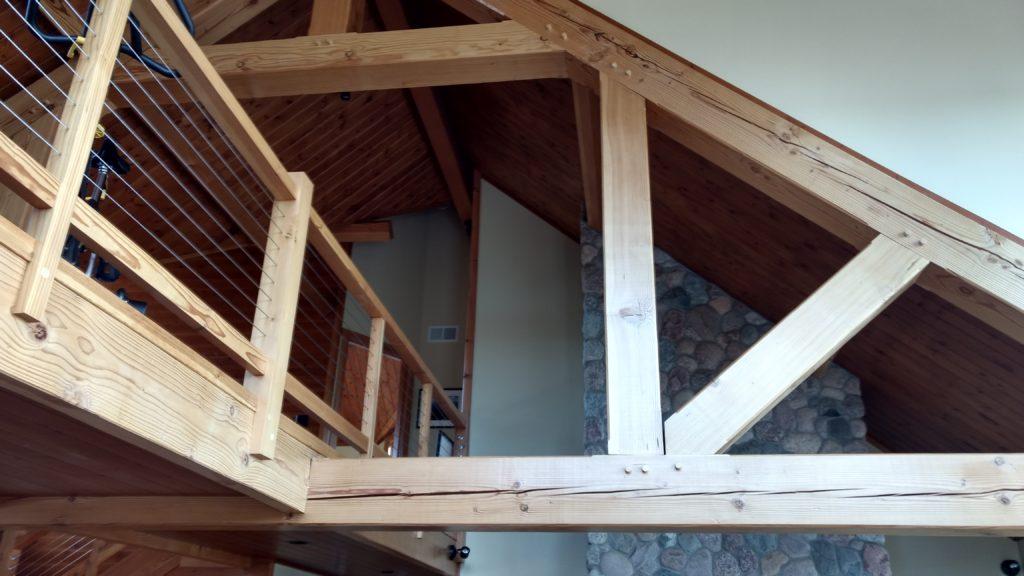 Cable railing loft