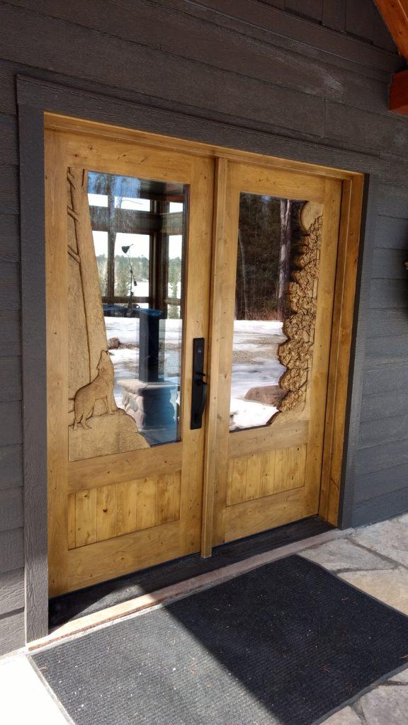 Custom carved entry door