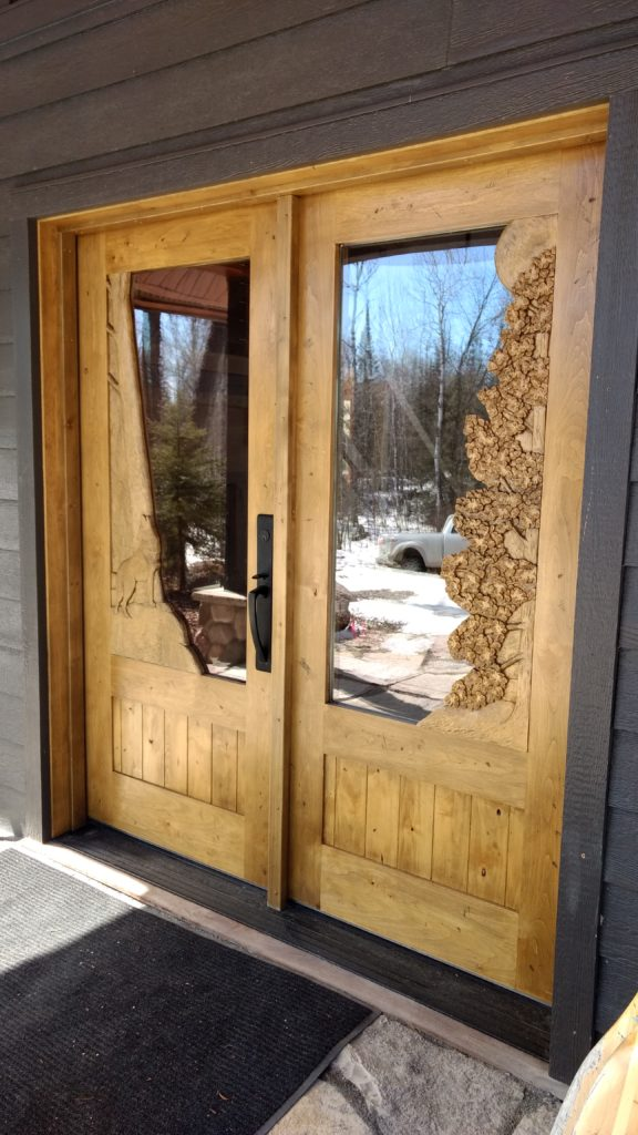 Custom carved fron entry door