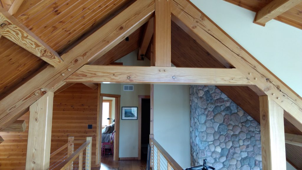 Douglas fir timber truss