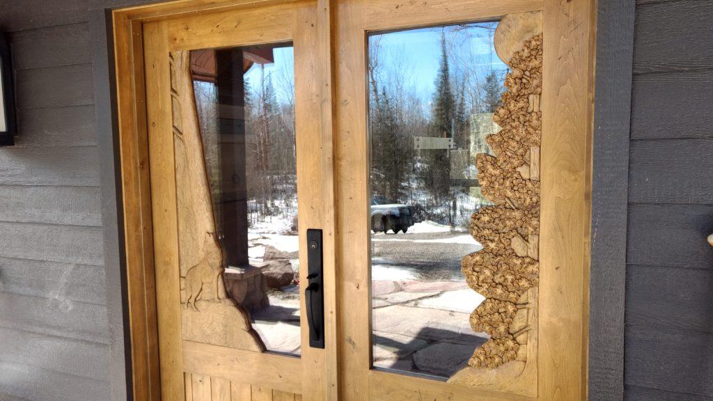 carved entry door