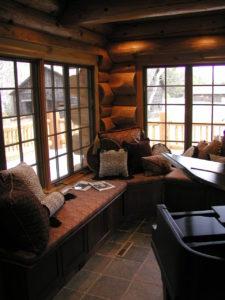 Piano room corner, lots of window