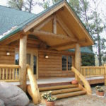 Cedar log home entry