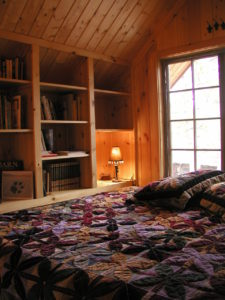 Sleeping nook in loft area
