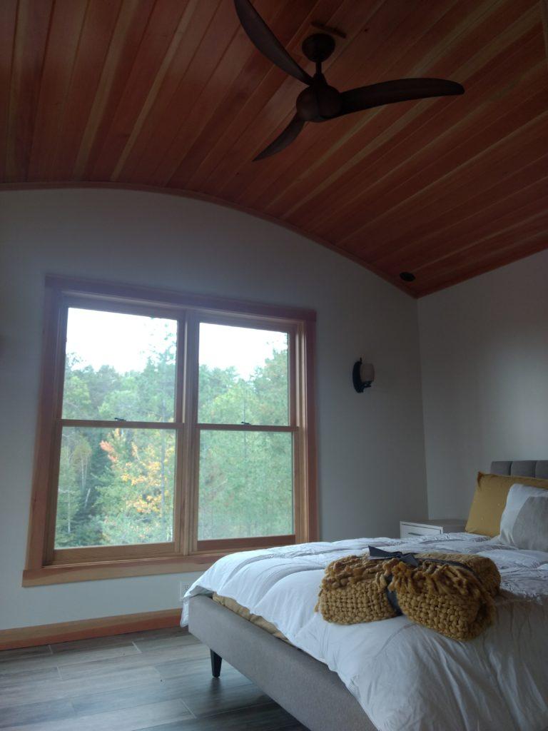 Douglas fir curved ceiling