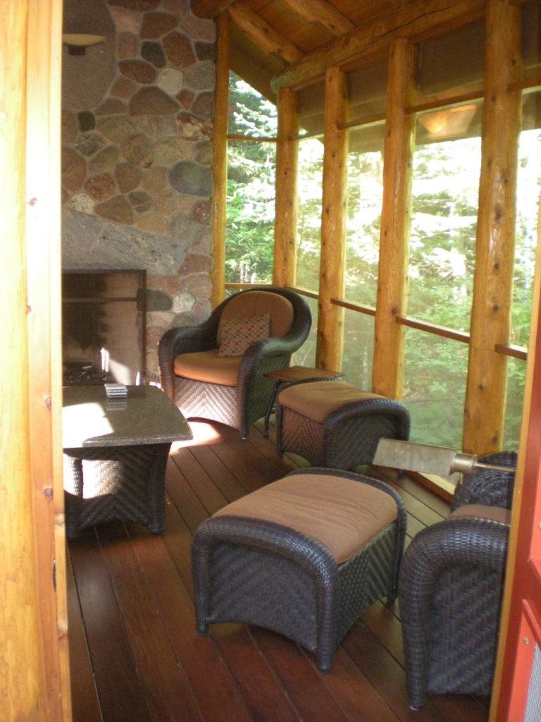 Furniture in the gazebo