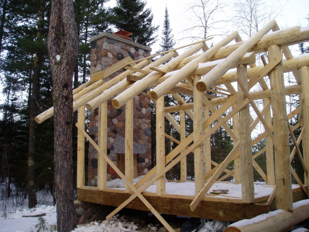 Log perlins and rafters