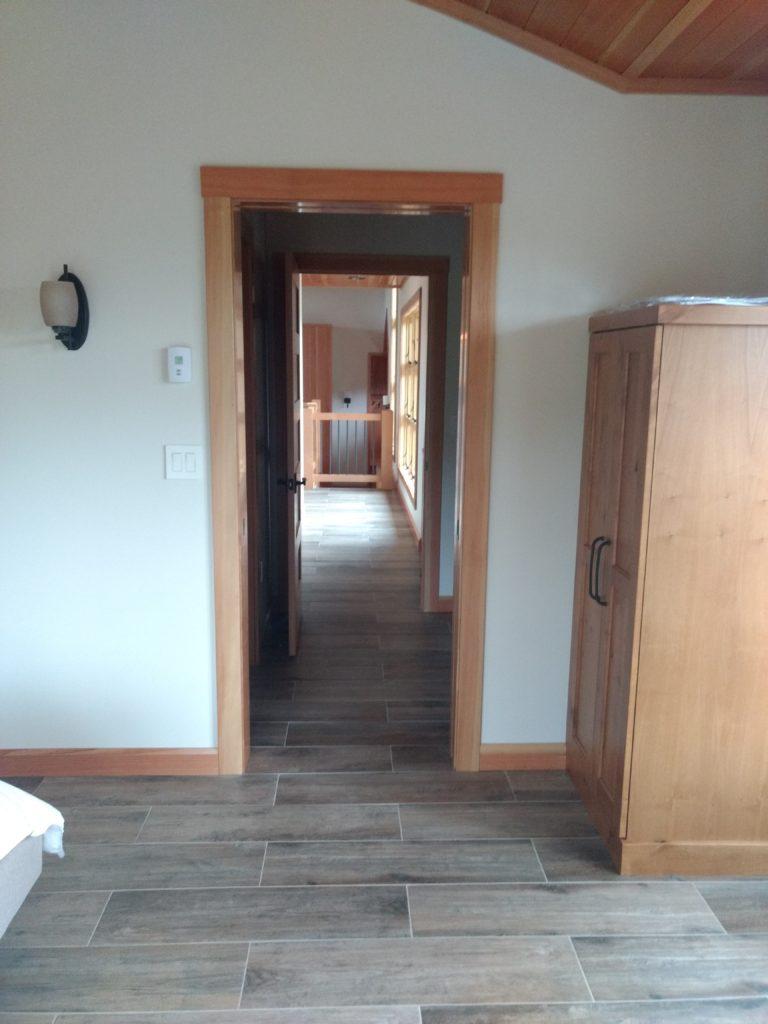 Hallway view from bedroom