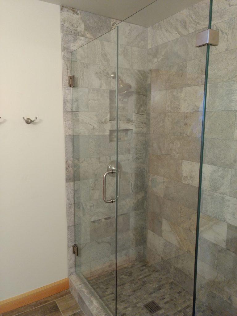 Tile, granite bathroom