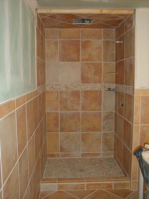 Custom tiled shower